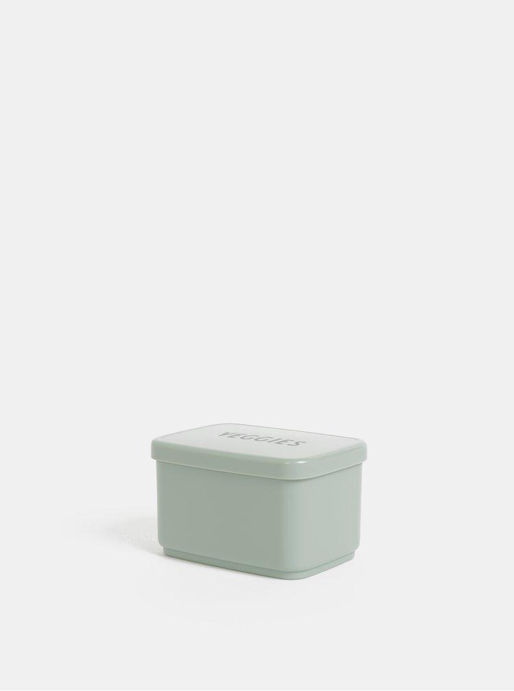 Světle zelený box na jídlo Design Letters Veggies