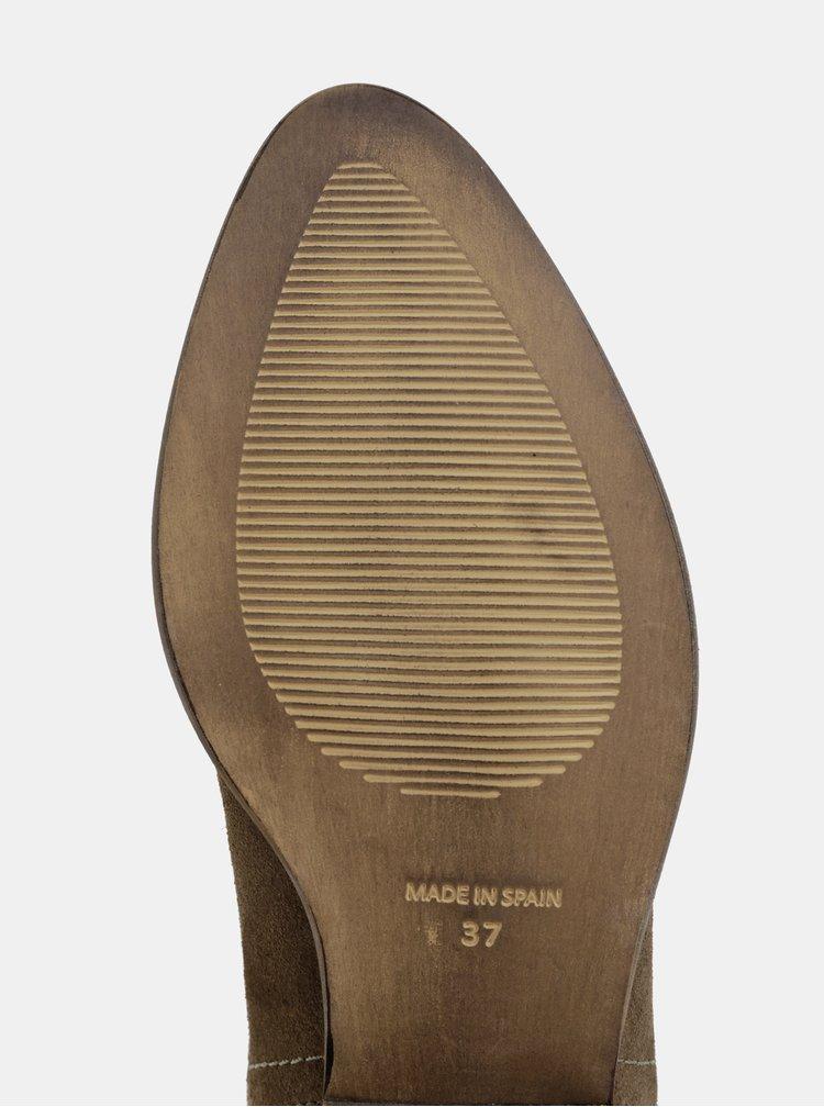 Hnedé semišové členkové topánky OJJU Caliope