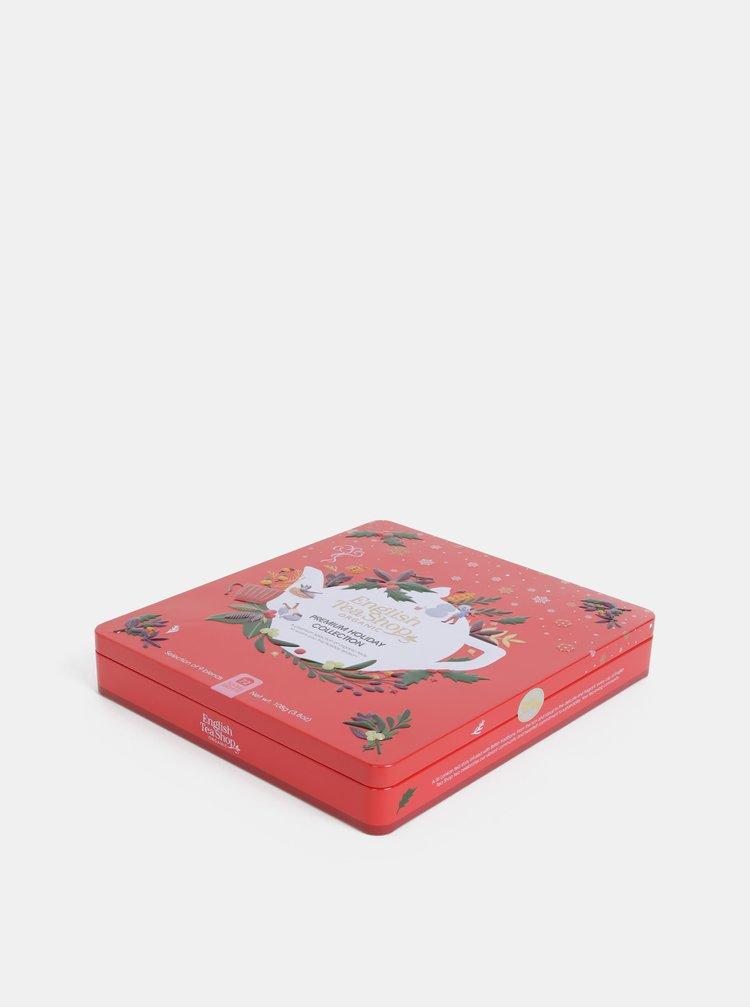 Červená vánoční prémiová kolekce čajů English Tea Shop