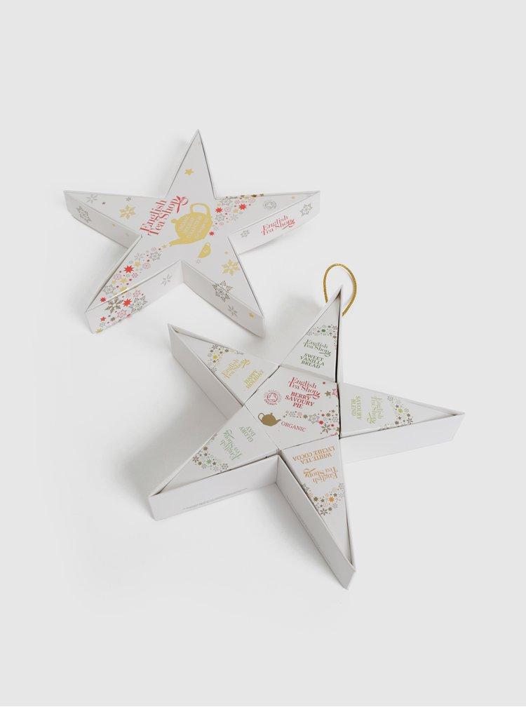 Bílá vánoční čajová kolekce English Tea Shop Hvězda