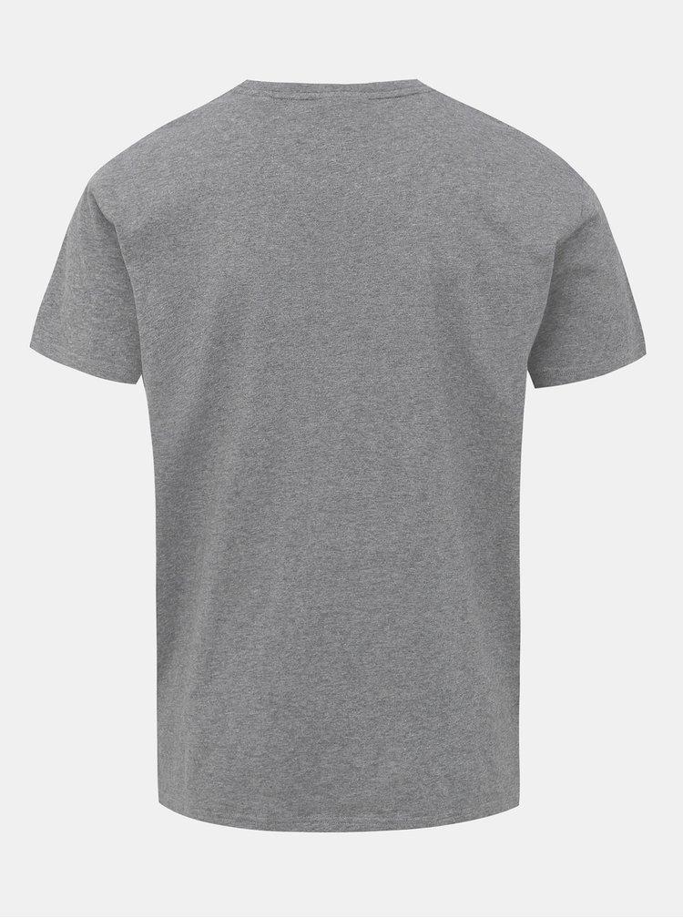 Šedé pánské tričko s potiskem GANT