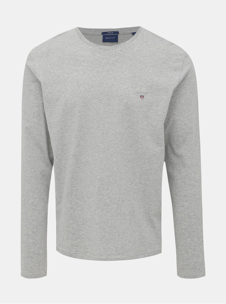 Šedé pánske basic tričko GANT