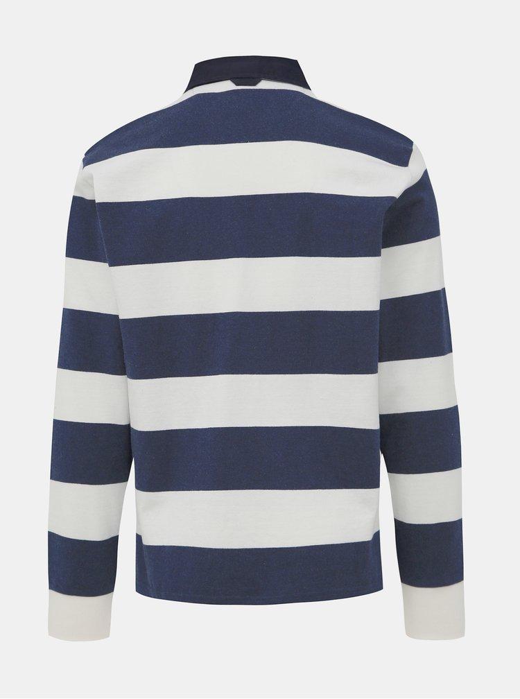 Tricouri polo pentru barbati GANT - albastru inchis, alb