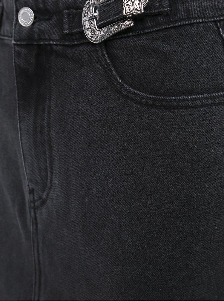 Čierna rifľová minisukňa TALLY WEiJL