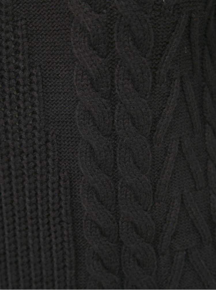 Černé svetrové minišaty TALLY WEiJL
