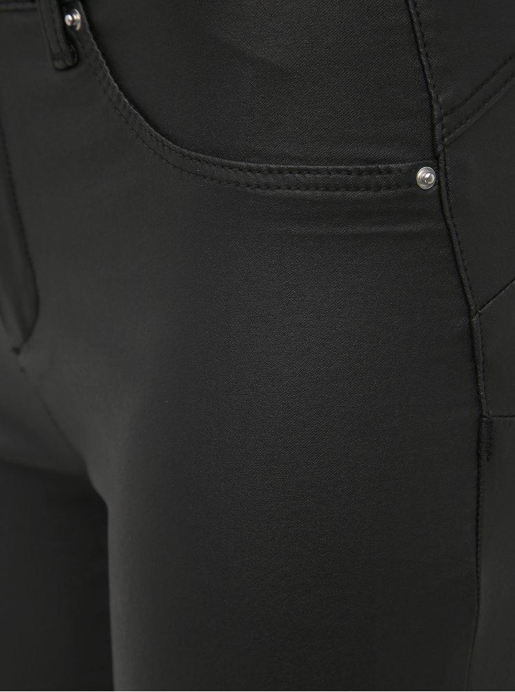 Čierne koženkové push up skinny fit nohavice TALLY WEiJL