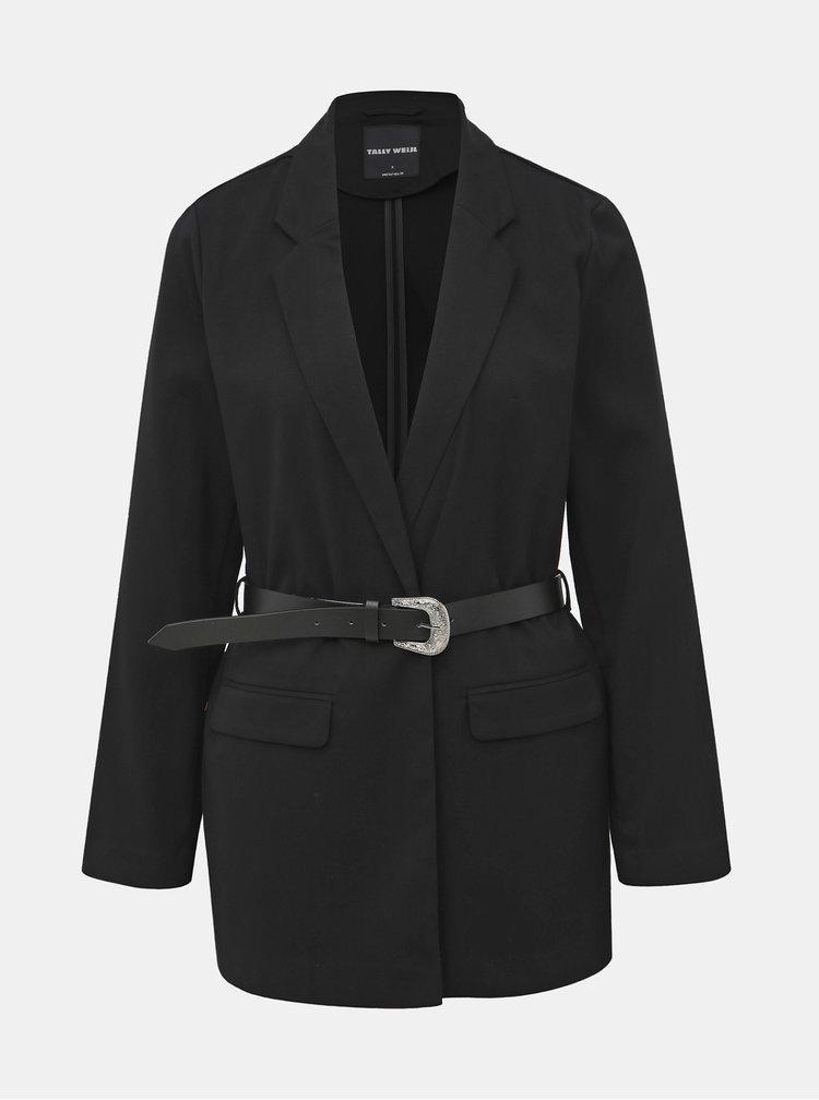 Čierne sako s opaskom TALLY WEiJL