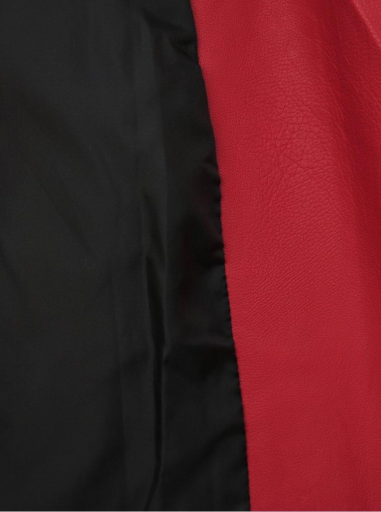 Červený koženkový křivák TALLY WEiJL