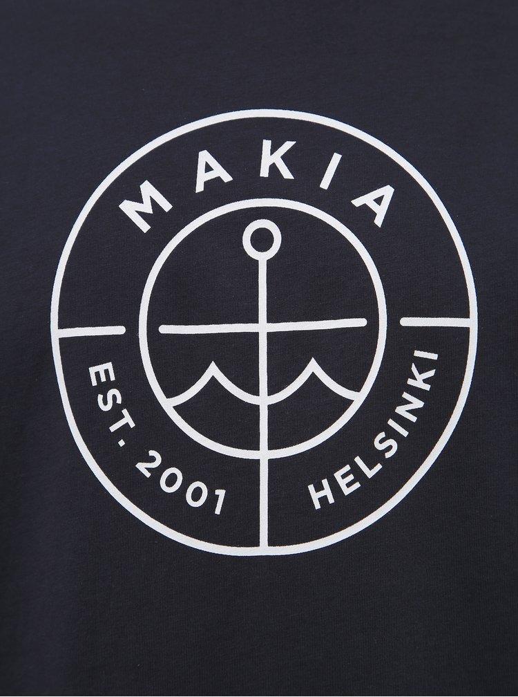 Tmavě modré pánské tričko s potiskem Makia Scope