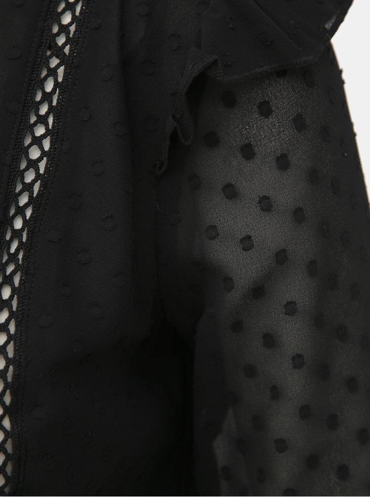 Čierna blúzka s volánmi TALLY WEiJL