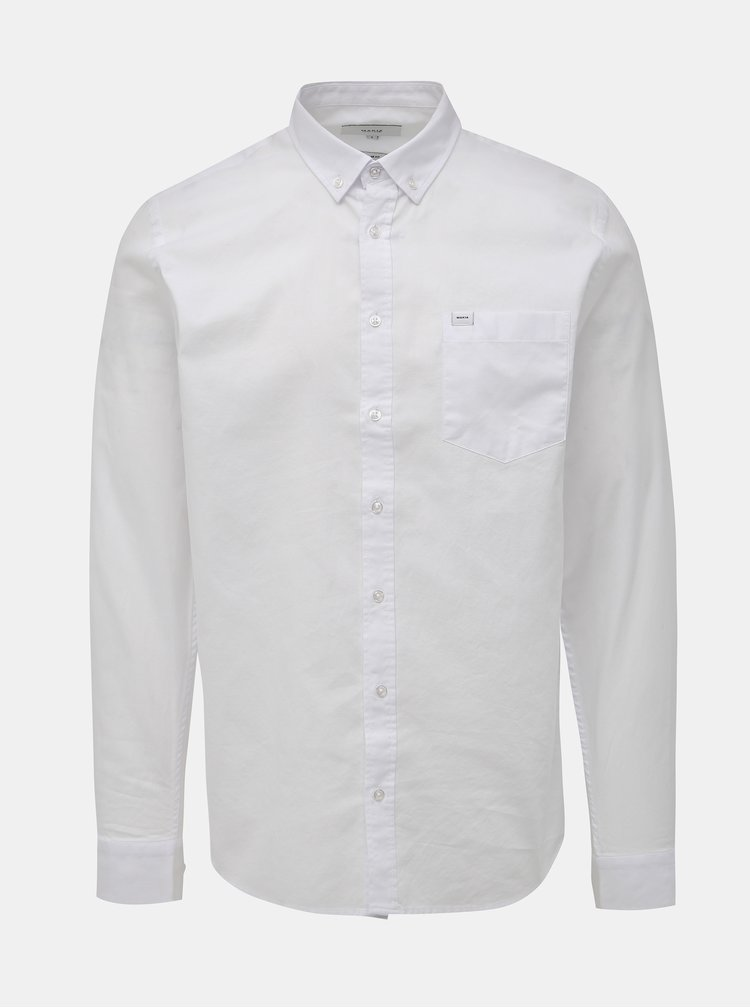Biela pánska regular fit košeľa Makia Flagship