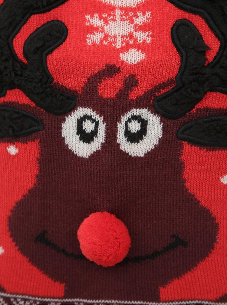 Červený svetr s vánočním motivem VERO MODA Snowy Deer