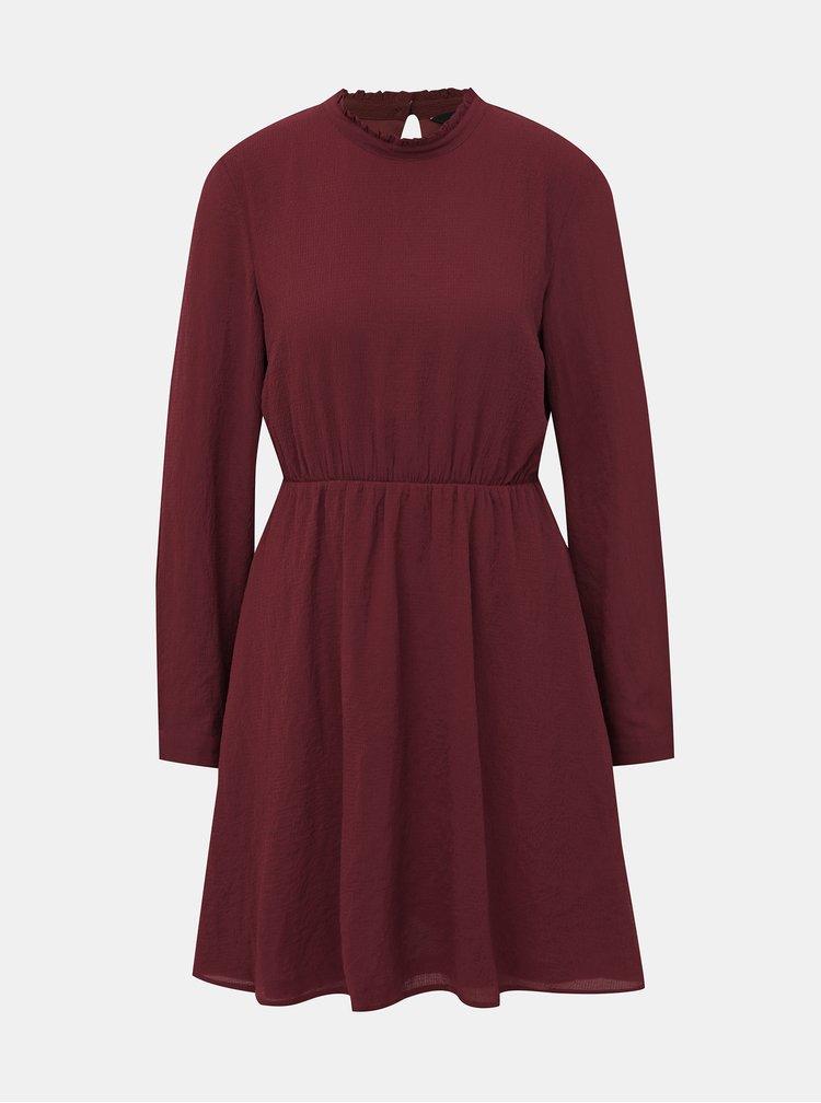 Vínové šaty VERO MODA Arwen
