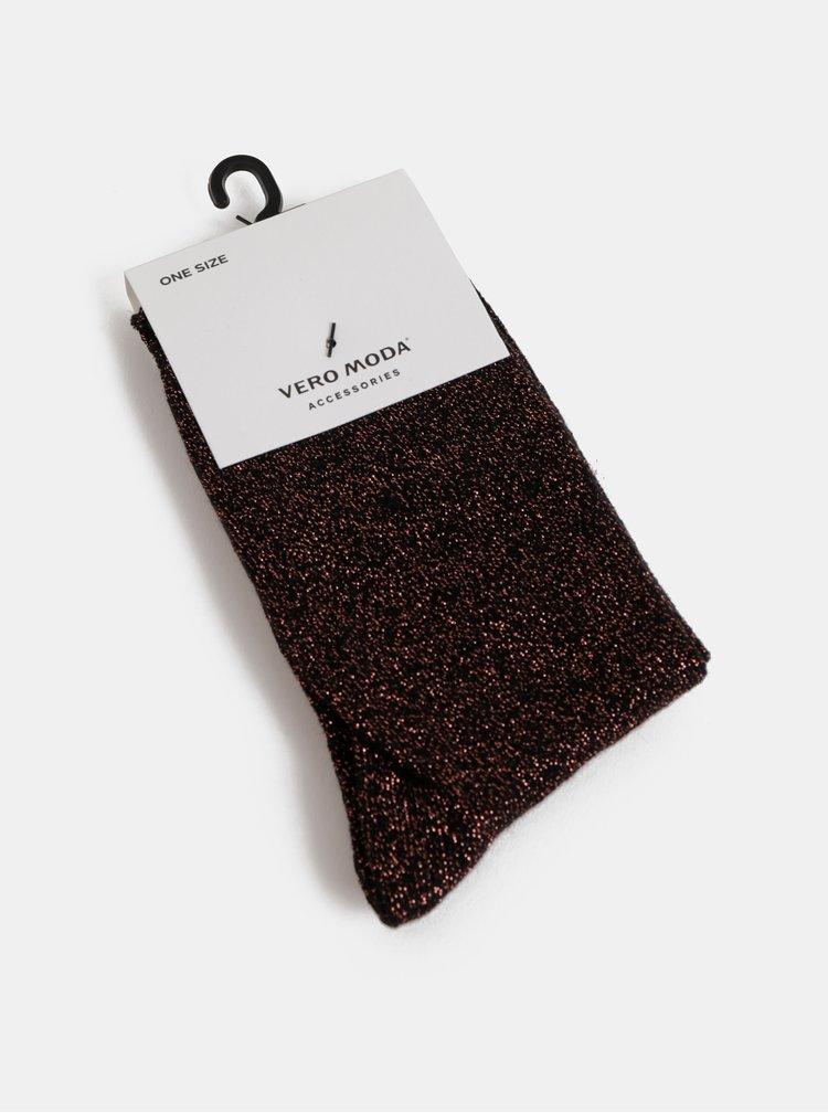 Černé třpytivé ponožky VERO MODA Glitter