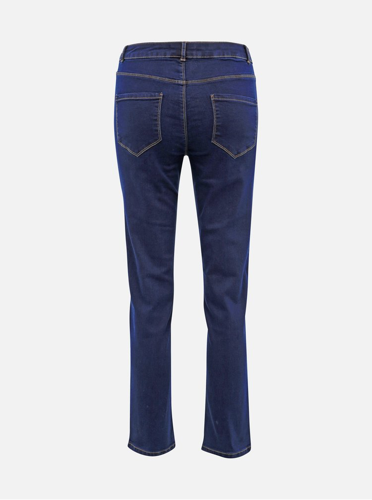 Tmavomodré slim fit rifle Dorothy Perkins Ellis