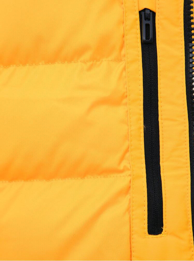 Žlutá dámská zimní bunda adidas Performance Xploric