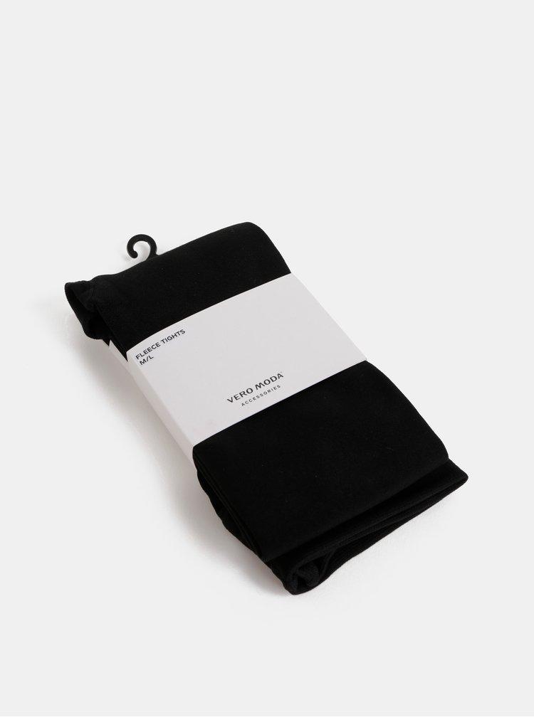 Čierne fleecové pančochové nohavice VERO MODA Love