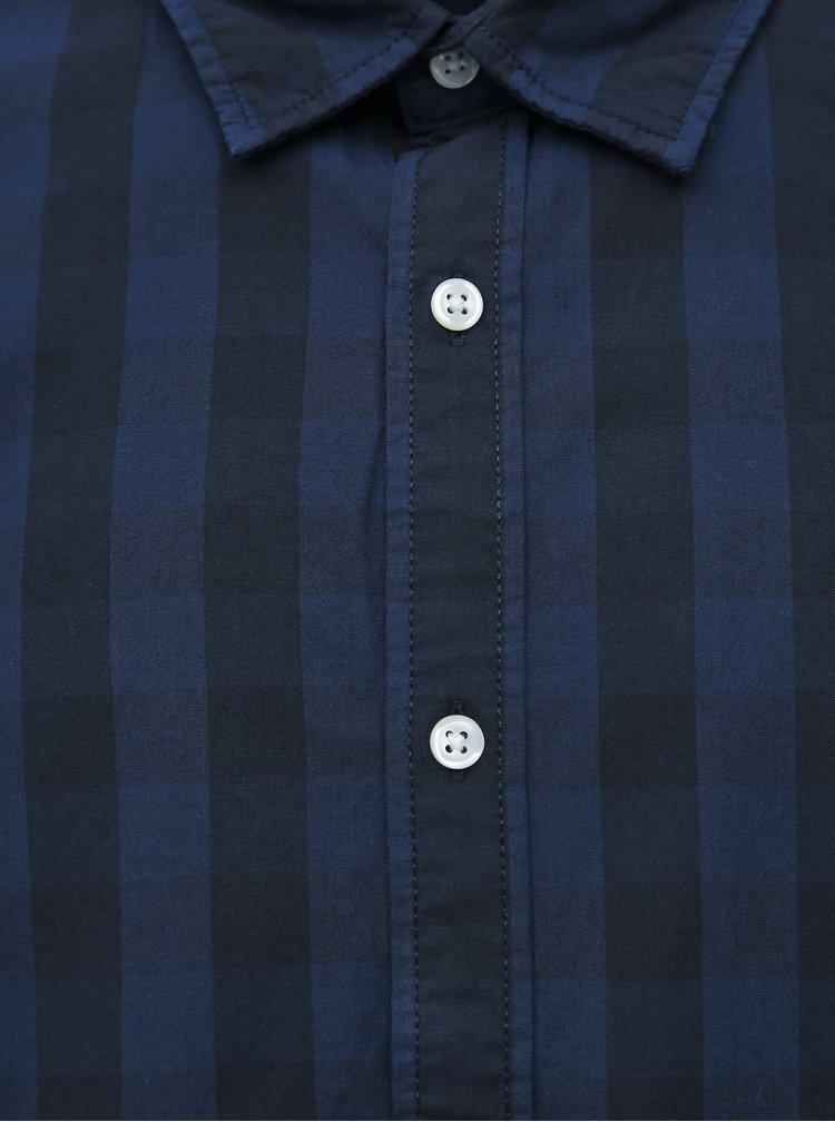 Tmavomodrá kockovaná košeľa Jack & Jones Egingham