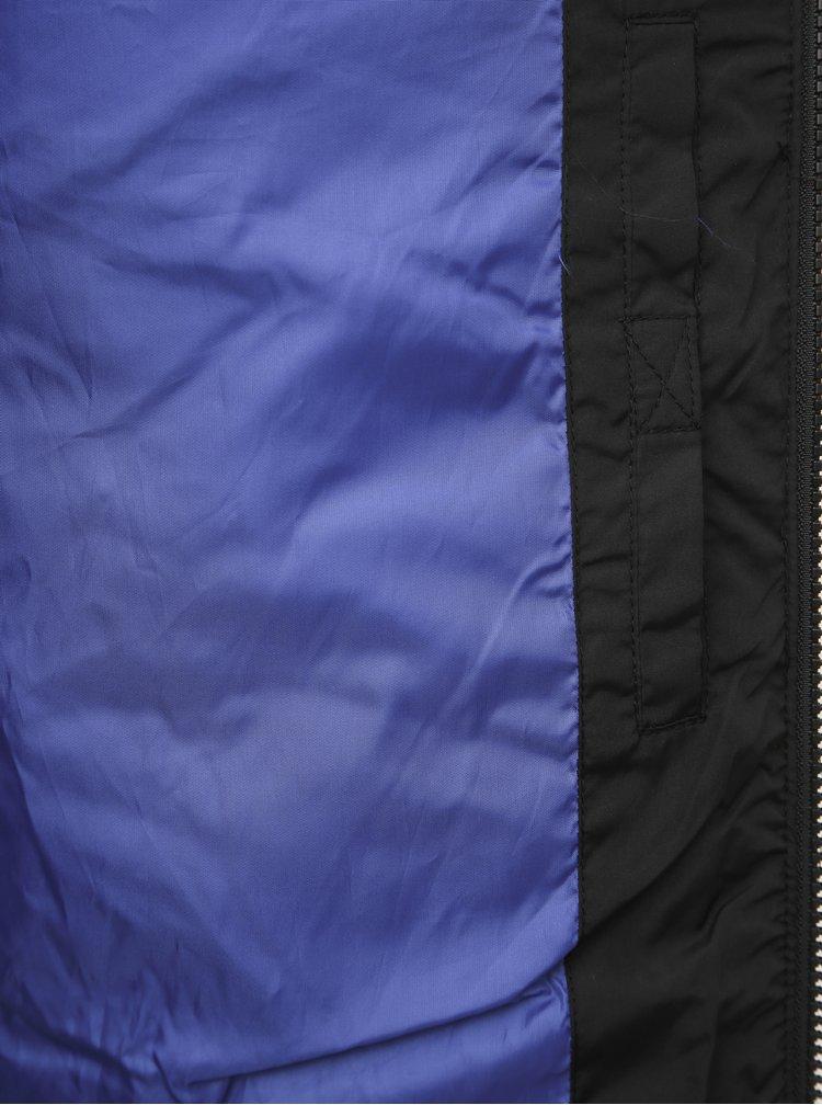 Černá dlouhá prošívaná voděodpudivá zimní bunda Jack & Jones Knight