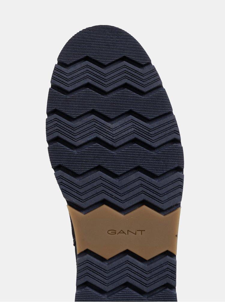 Tmavomodré dámske semišové chelsea topánky na platforme GANT Casey