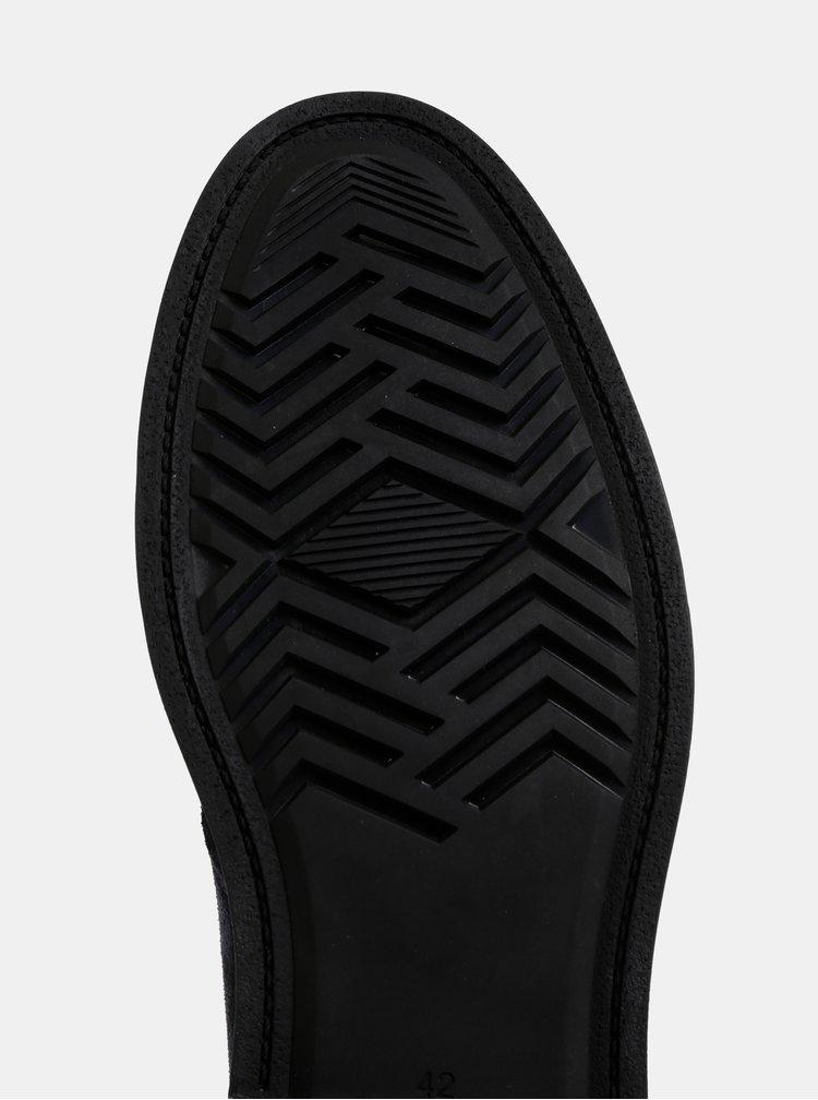 Tmavomodré pánske semišové členkové topánky GANT Fargo