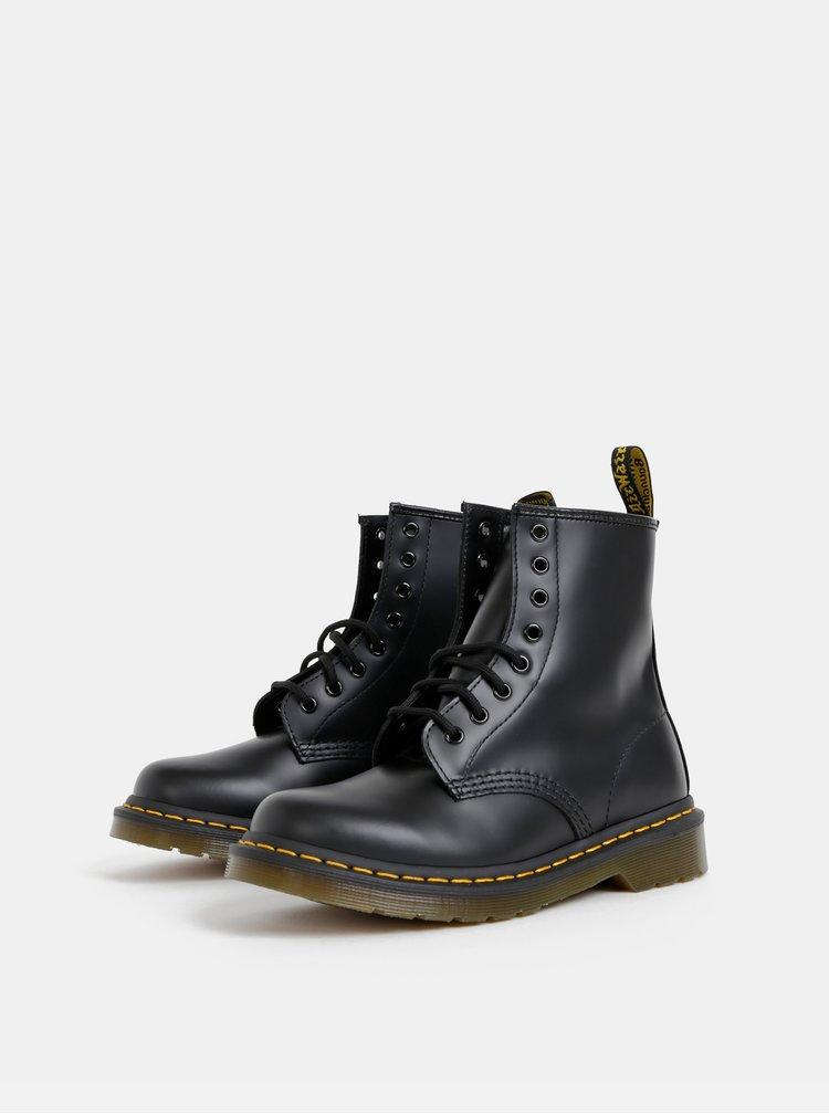 Čierne kožené členkové topánky Dr. Martens 1460