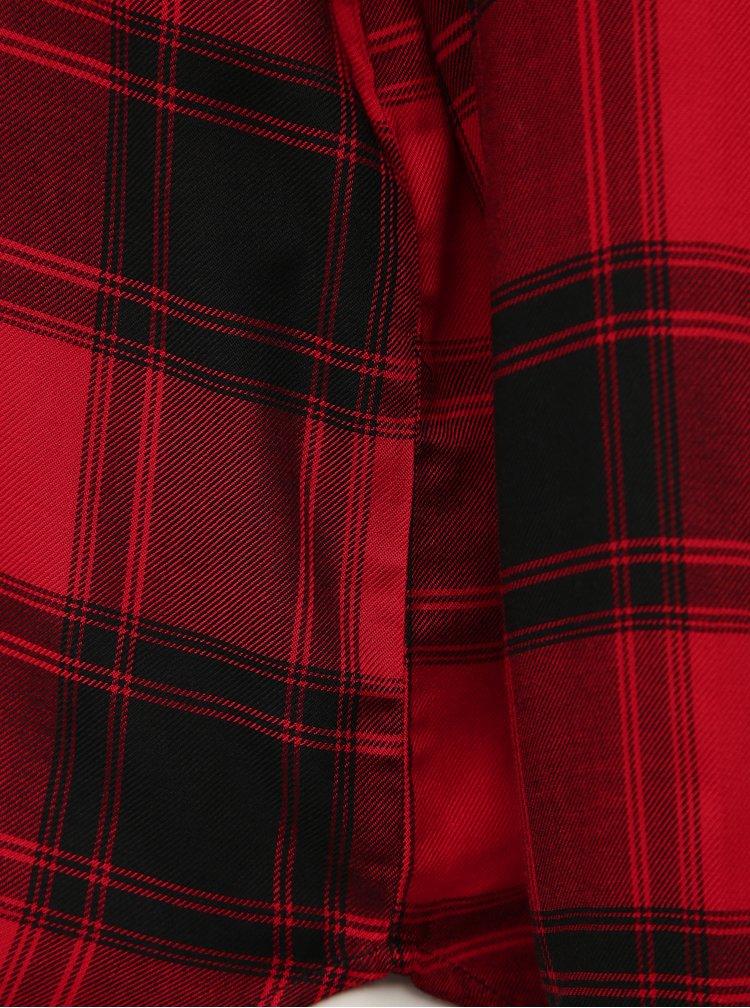 Červená kostkovaná volná halenka Jacqueline de Yong Bear