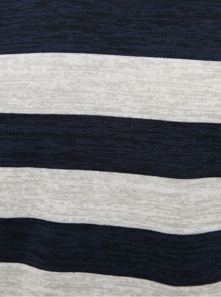 Šedo-modrý pruhovaný basic svetr ONLY & SONS Caleb