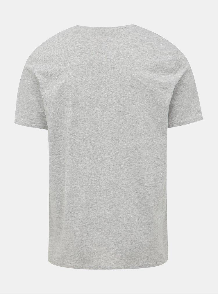 Šedé tričko s potiskem ONLY & SONS Mar