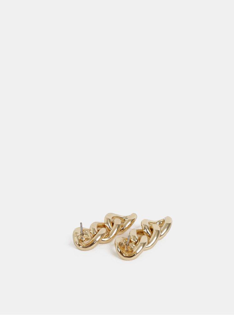 Visiace náušnice v zlatej farbe VILA