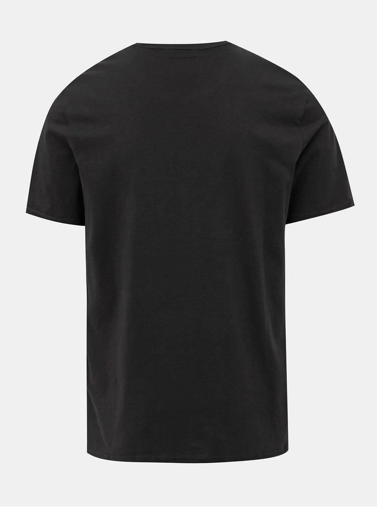 Černé tričko s potiskem ONLY & SONS Saxon