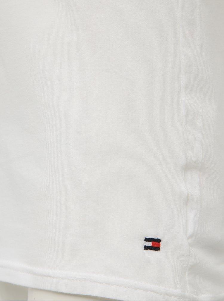 Set de 3 tricouri albe cu decolteu in V TOMMY HILFIGER
