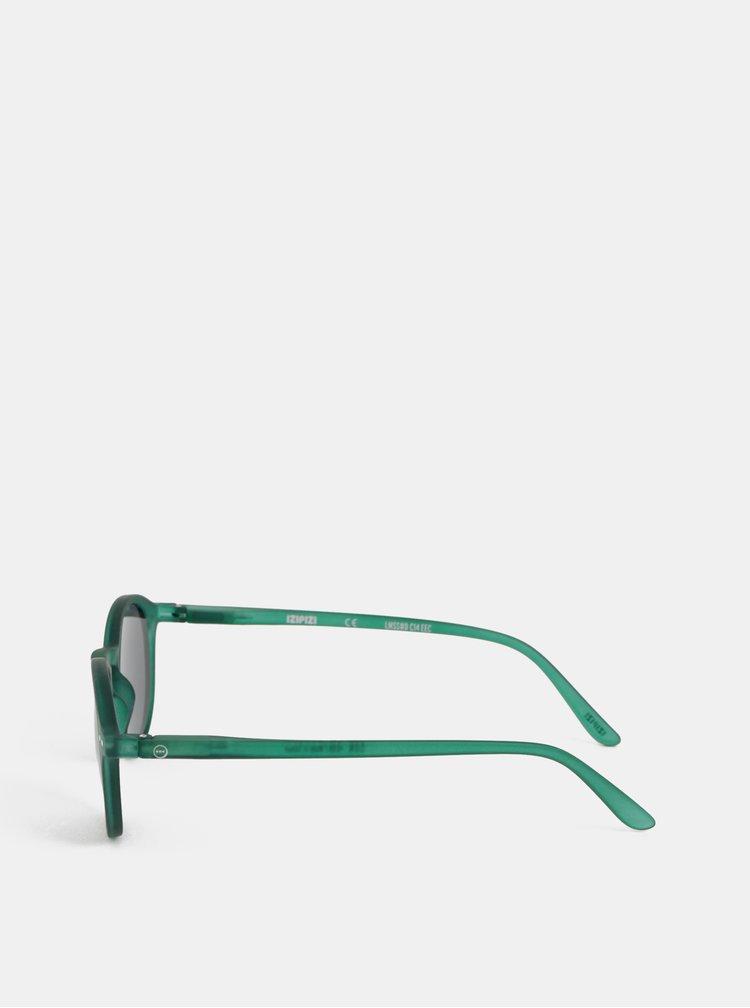 Zelené sluneční brýle s černými skly IZIPIZI #D