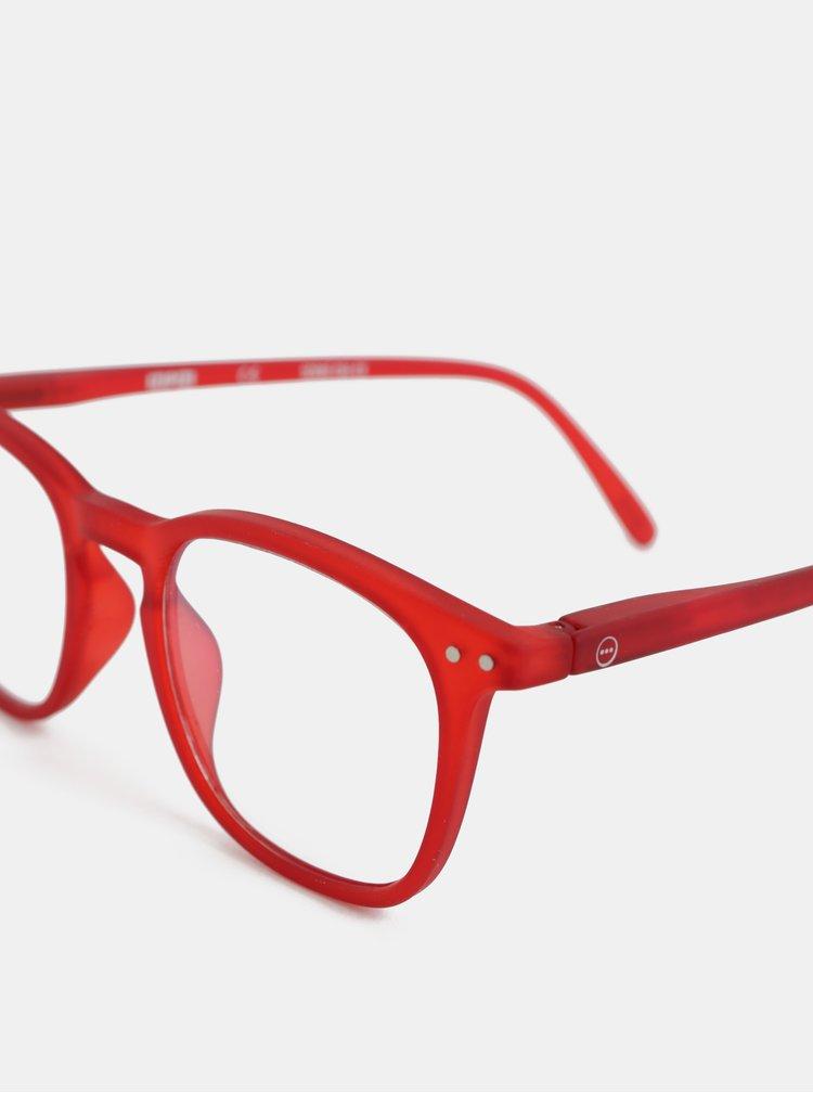 Červené ochranné okuliare k PC IZIPIZI #E