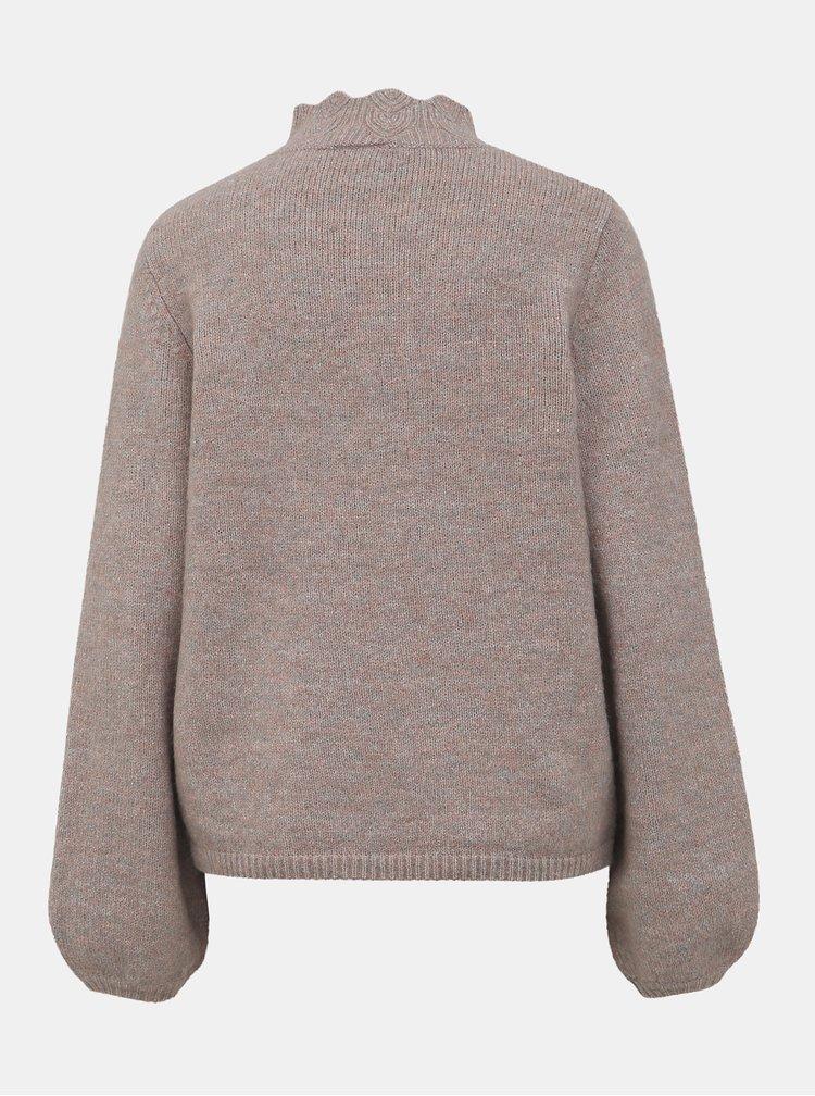 Šedý sveter so stojáčikom VILA