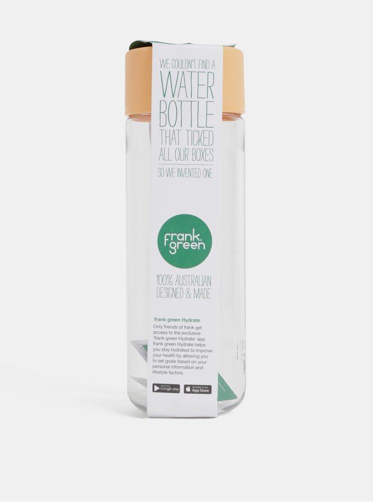 Plastová láhev s oranžovým víčkem Frank Green 740 ml