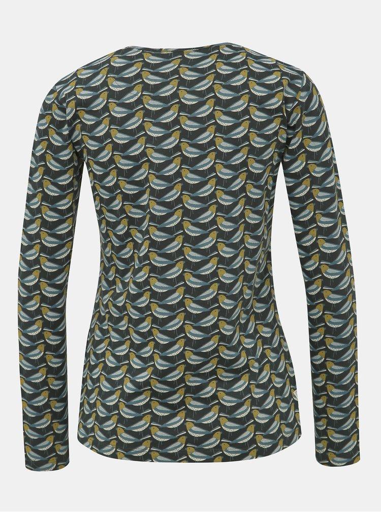 Tmavozelené vzorované tričko Brakeburn