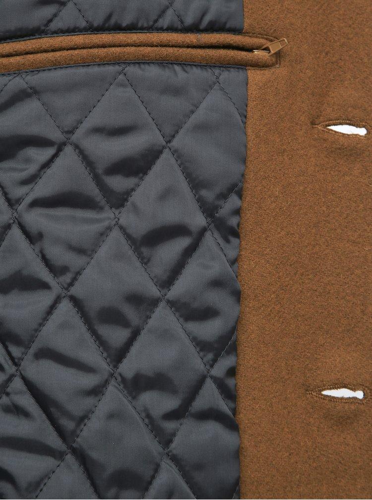 Hnědý vlněný kabát Lindbergh