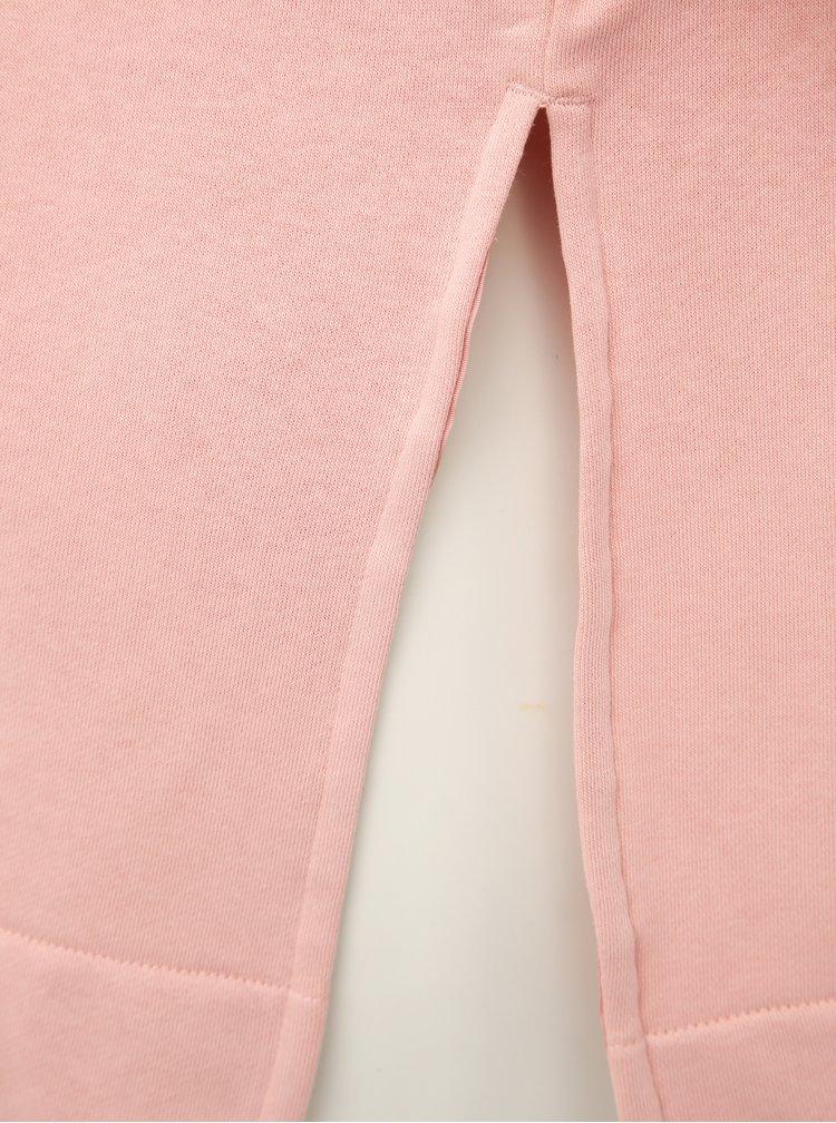 Rúžová dámska mikina s potlačou a rozparkami adidas Originals