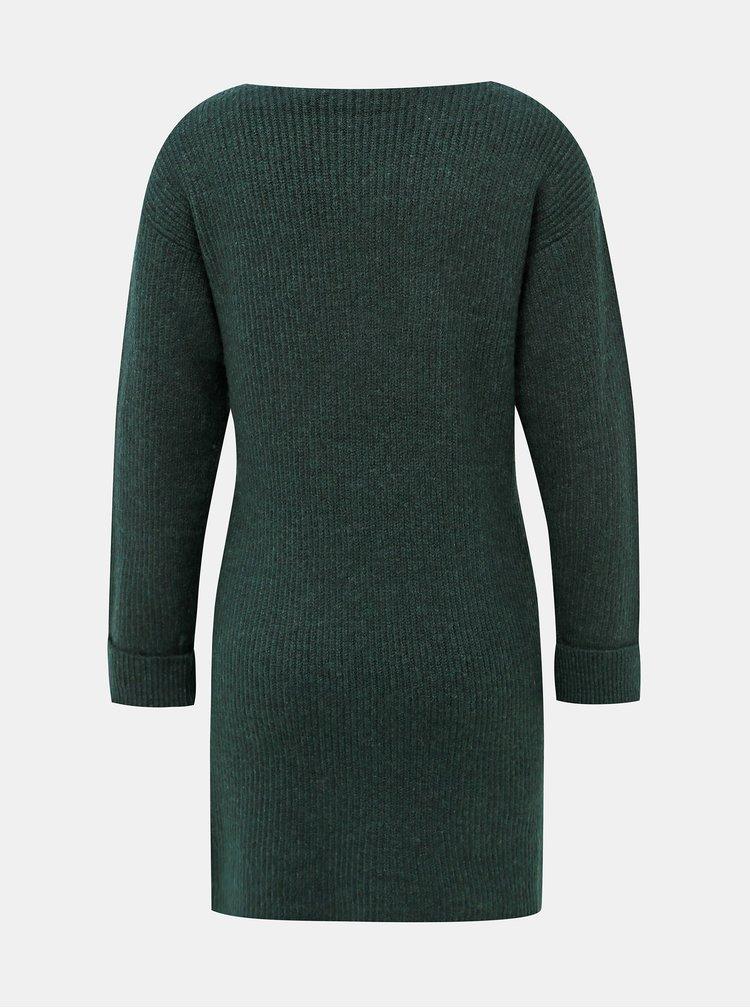 Tmavě zelené svetrové šaty Dorothy Perkins