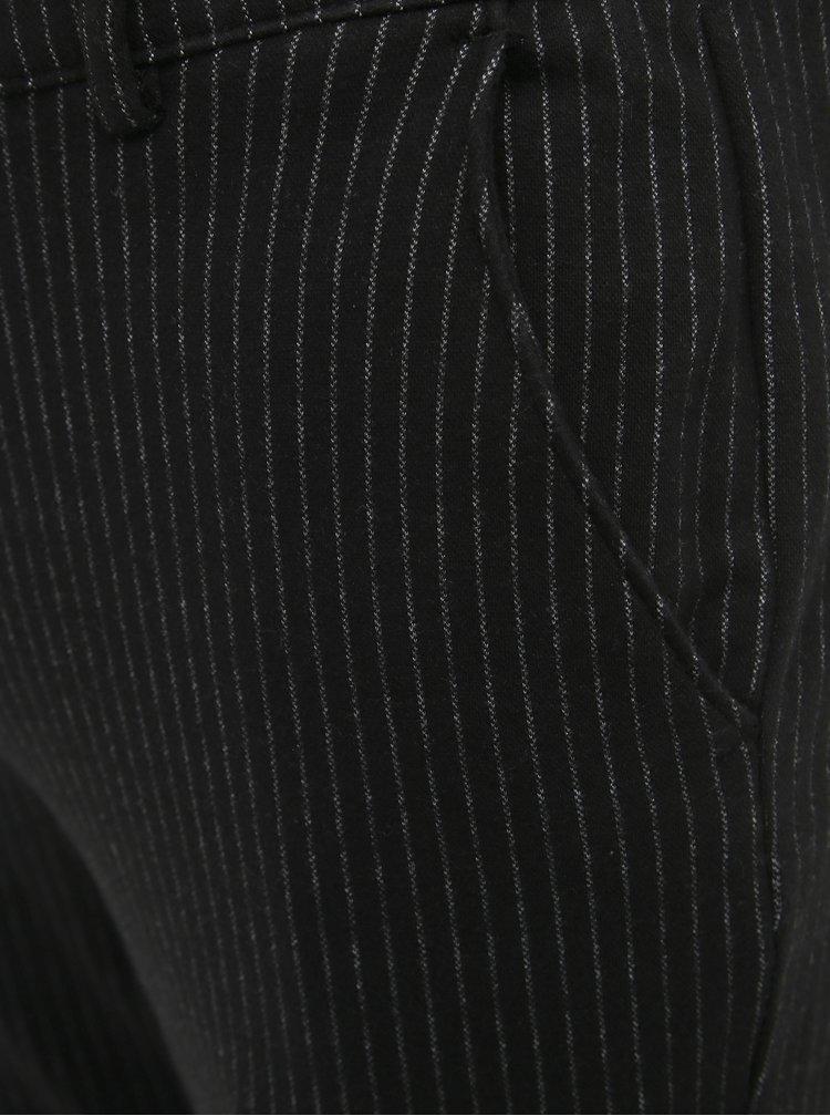 Čierne pruhované nohavice Shine Original
