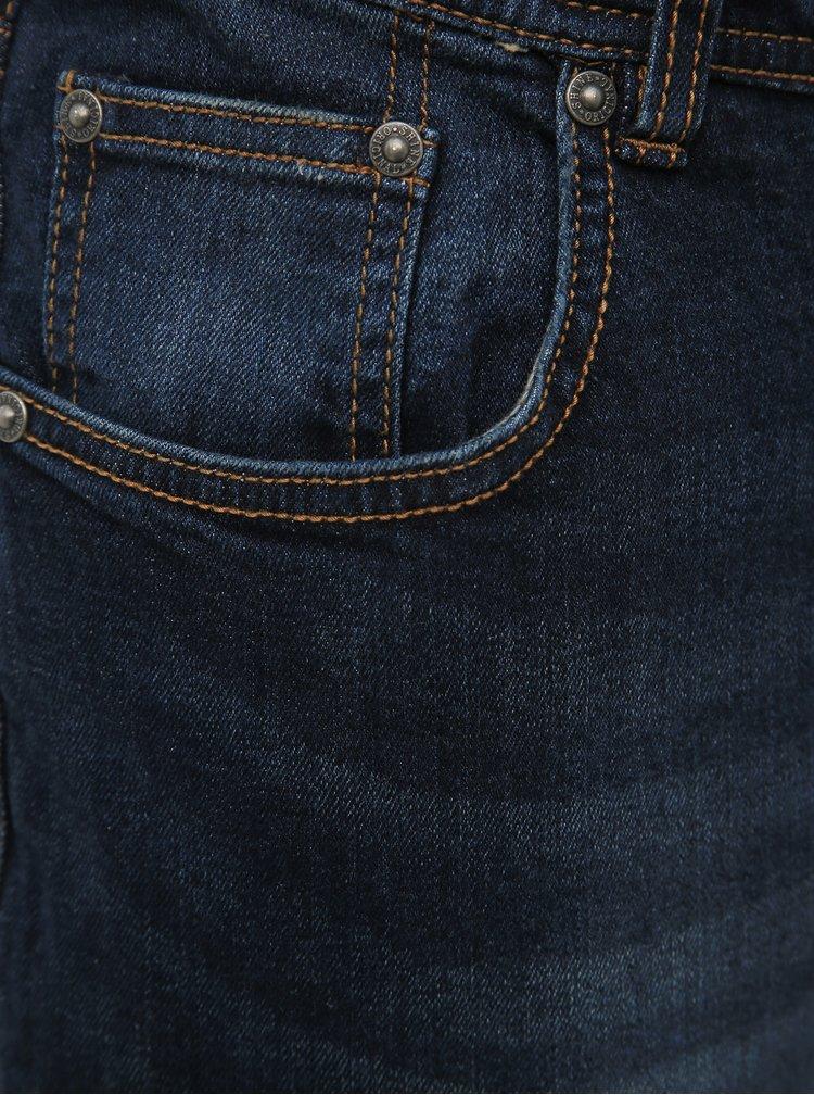 Tmavě modré regular fit džíny Shine Original