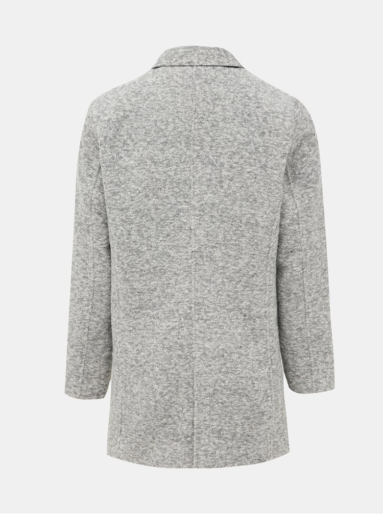 Šedý kabát Shine Original Omar
