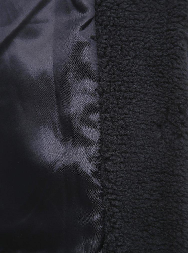 Tmavomodrý kabát z umelej kožušiny Dorothy Perkins
