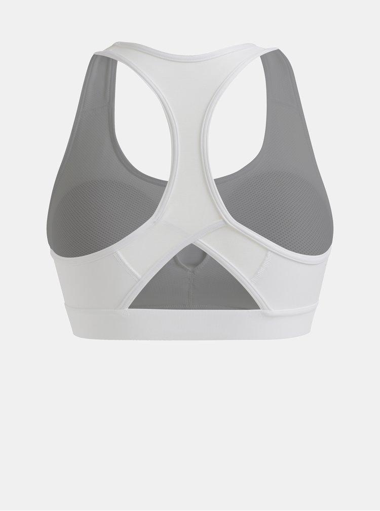 Bílá sportovní podprsenka s potiskem adidas Performance