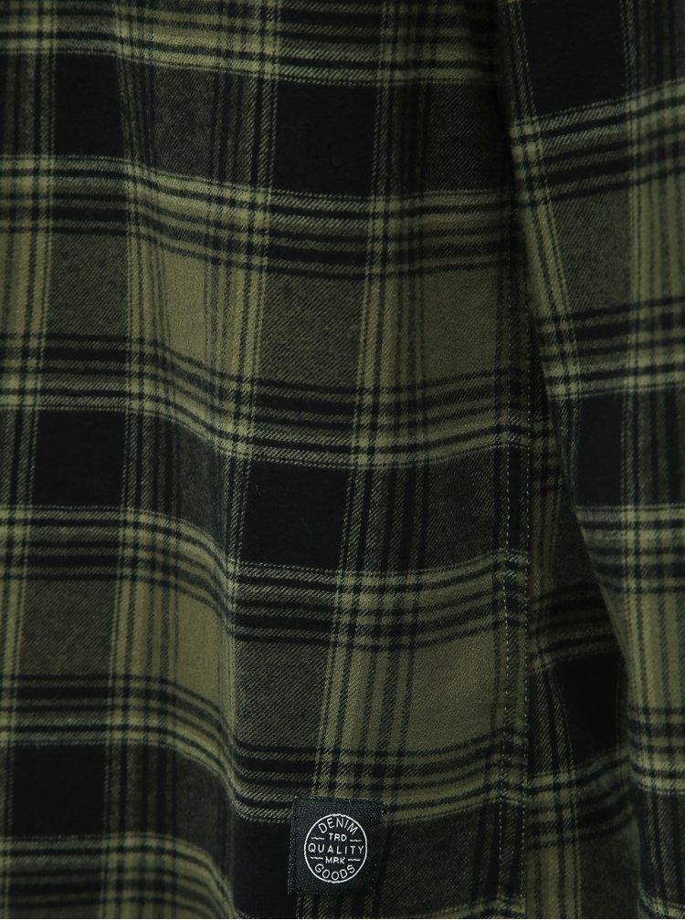 Zelená flanelová kostkovaná košile Shine Original