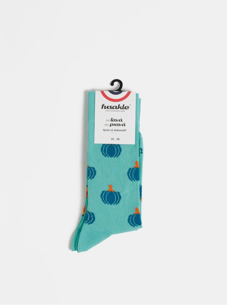 Tyrkysové vzorované ponožky Fusakle Tikva