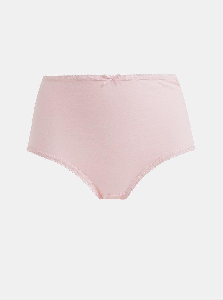 Sada piatich nohavičiek s vysokým pásom v rúžovej, bielej a vínovej farbe M&Co