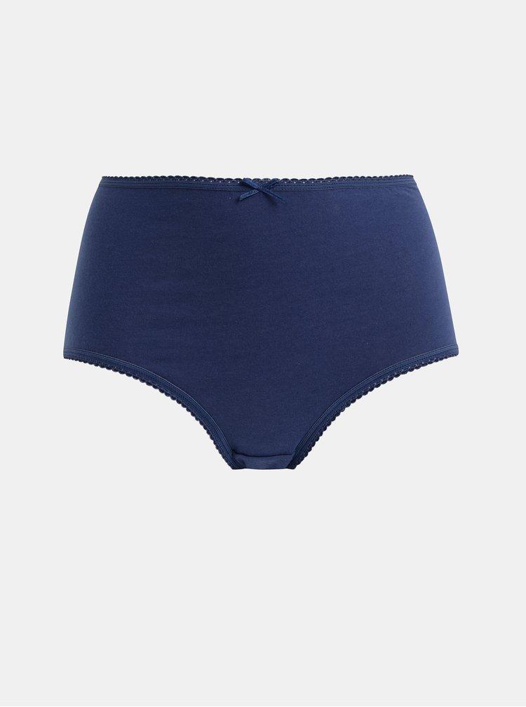 Sada pěti kalhotek s vysokým pasem v bílé a modré barvě M&Co