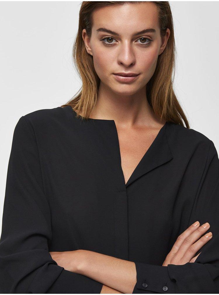 Čierna blúzka Selected Femme Stina